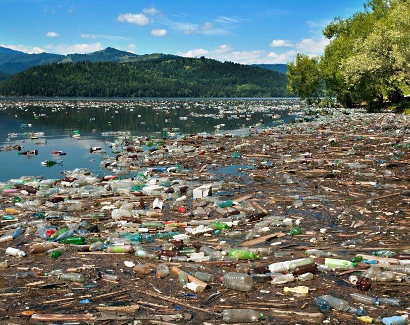 water bottles in landfills